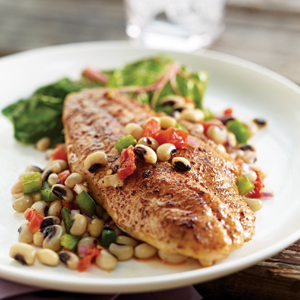 Catfish with Black-Eyed Pea Salsa